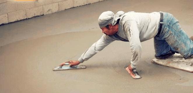 Как затирать бетонный пол