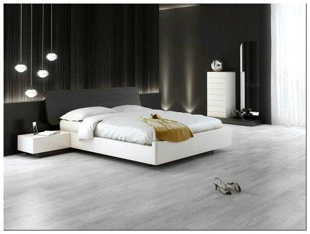 Сочетание белого ламината с контрастным цветом в спальне