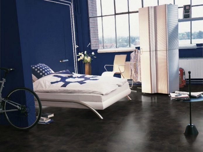 Дизайн комнаты подростка с темным полом