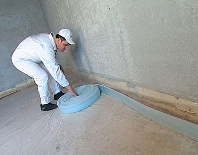 Начало монтажа кромочной ленты