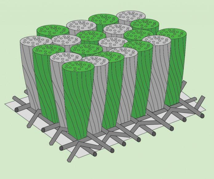 Схематическое изображение структуры ковролина