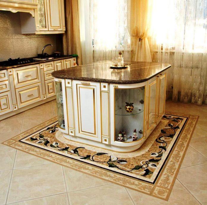 Напольная плитка с декором