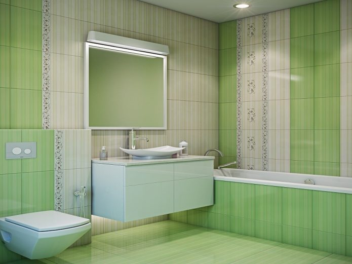 Зелёная плитка