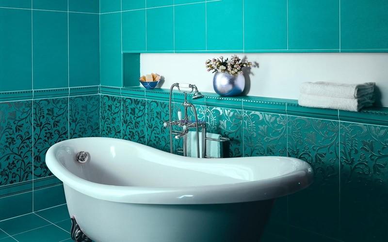 Отделка ванной комнаты плиткой — 25 идей
