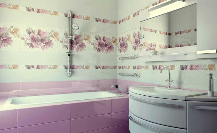 Цветочный декор и яркая плитка
