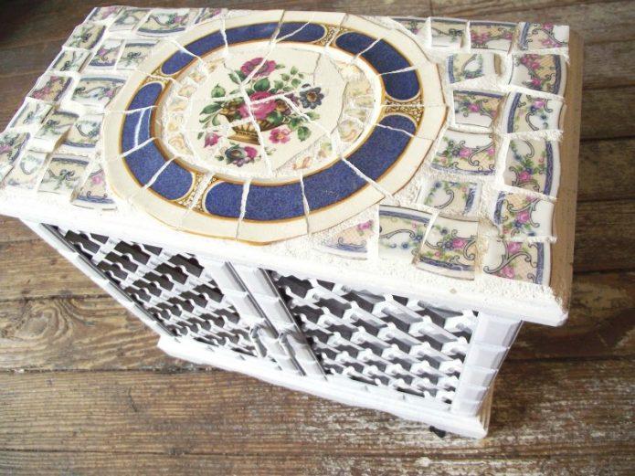 Мозаика из плитки в винтажном стиле
