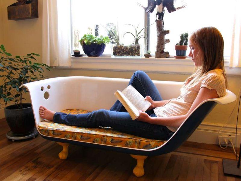Что сделать из старой ванны: 20 интересных идей