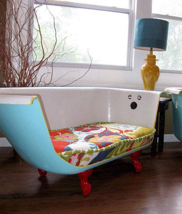 Сидение из старой ванны