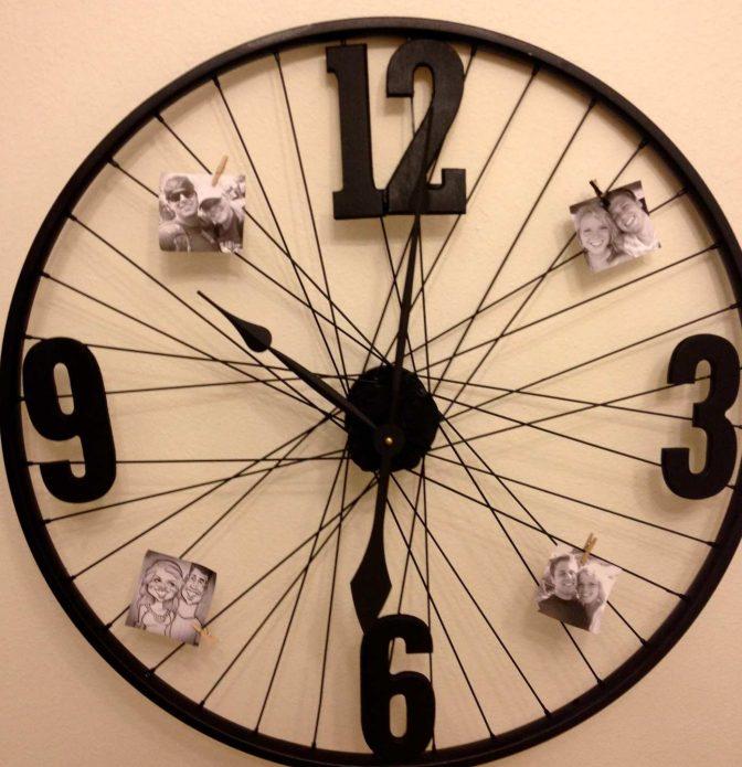 Часы из обруча