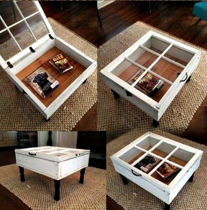 Журнальный столик из рамы