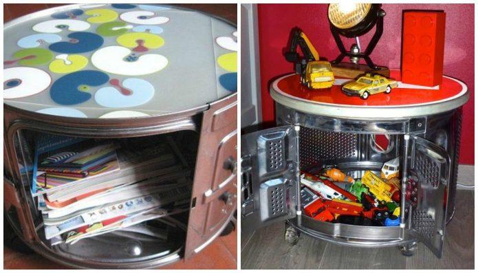 Столик из барабана от стиральной машины