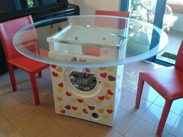 Стол из корпуса стиральной машины