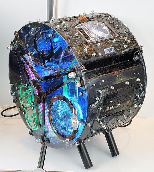 Использование барабана стиральной машины для моддинга
