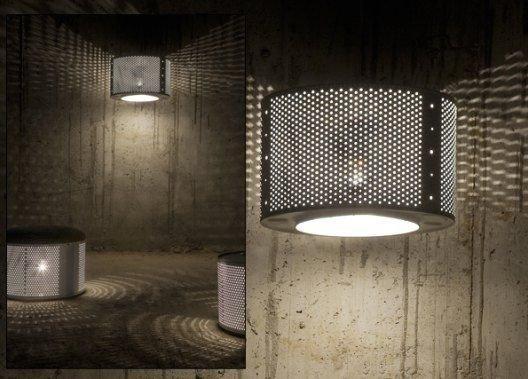 Светильники из барабана от стиральных машин