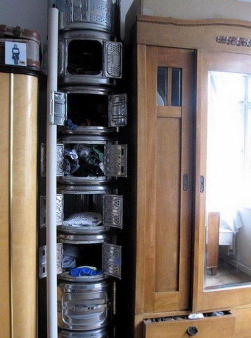 Использование барабанов от стиральных машин для хранения