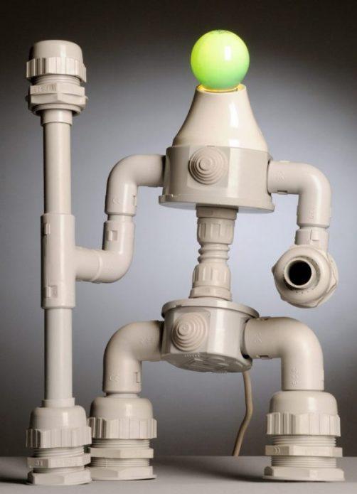 Светильник из труб ПВХ