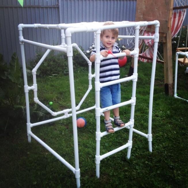 Спортивный модуль для ребенка из труб ПВХ