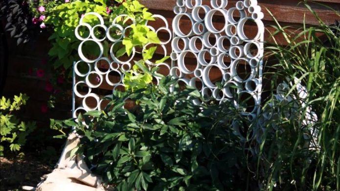 Садовая шпалера из труб ПВХ