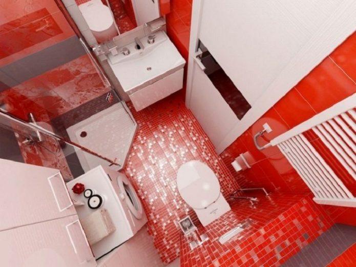 Ванная комната в квартире-студии