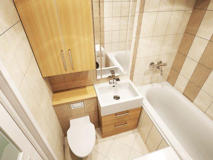 Дизайн ванной комнаты в квартире-студии
