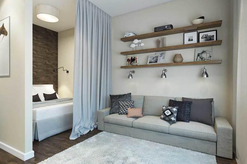 Как расставить мебель в однокомнатной квартире: идеи на фото