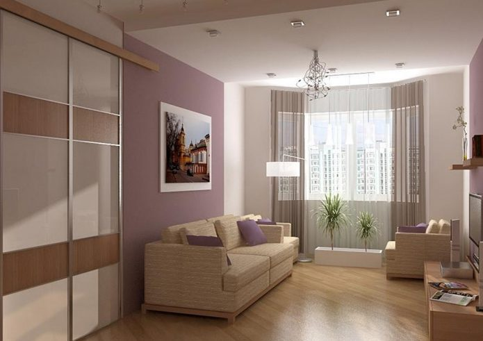 Расстановка мебели в однокомнатной квартире