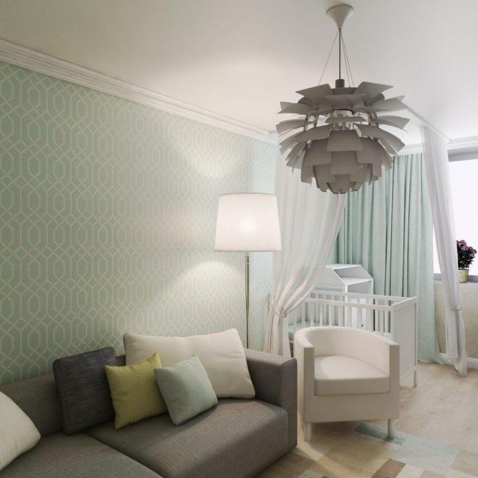детская кроватка в однокомнатной квартире