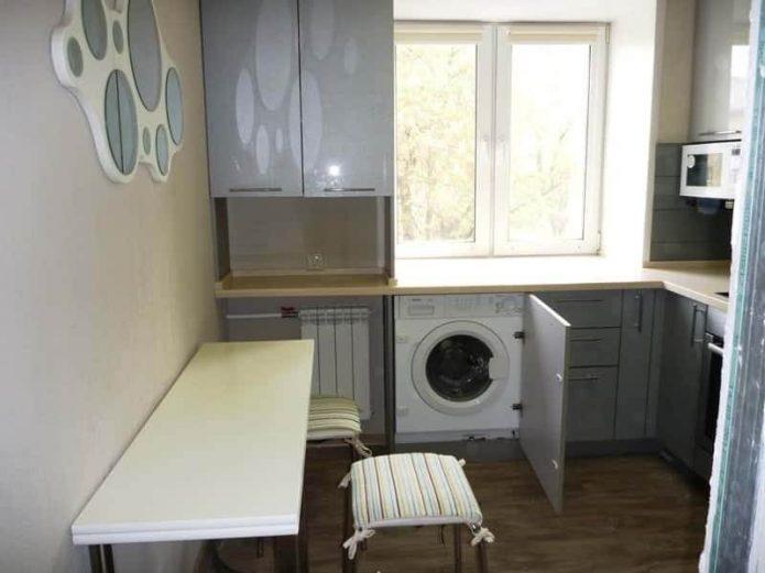 куда поставить стиральную машину в маленькой квартире