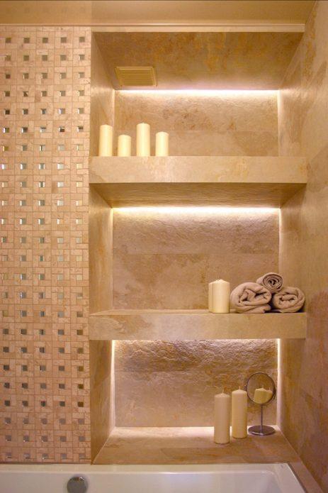 Стенные ниши в ванной комнате