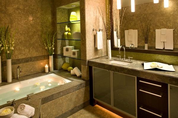 Декор интерьера ванной комнаты