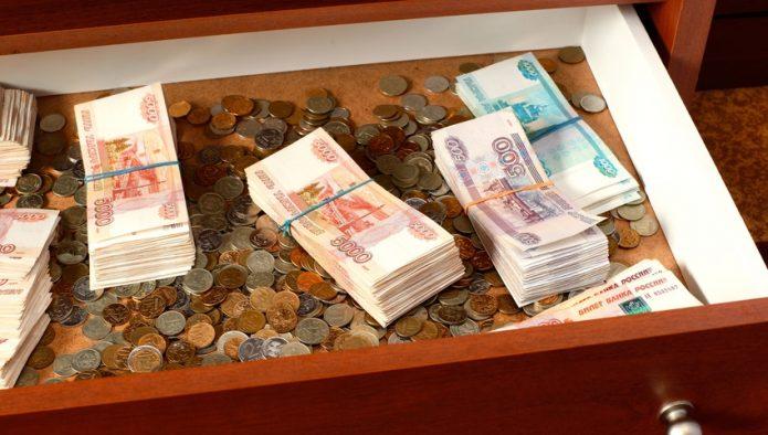 Деньги в ящике
