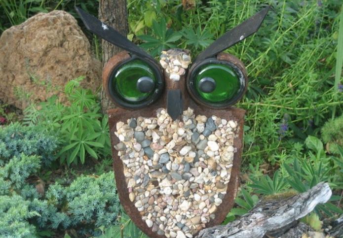 Декор рутария из штыка лопаты