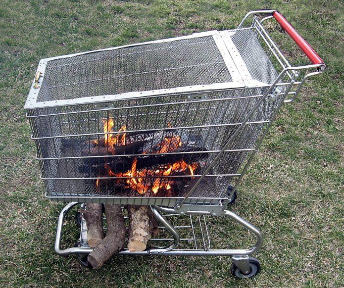 Мобильное приспособление для приготовления барбекю