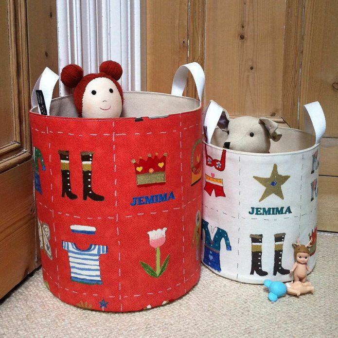 Контейнеры для игрушек из клеёнки
