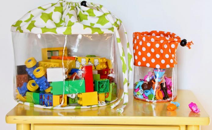 Мешки для хранения мелких предметов