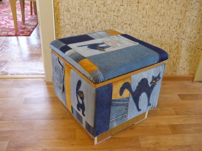 Пуфик-короб для хранения игрушек