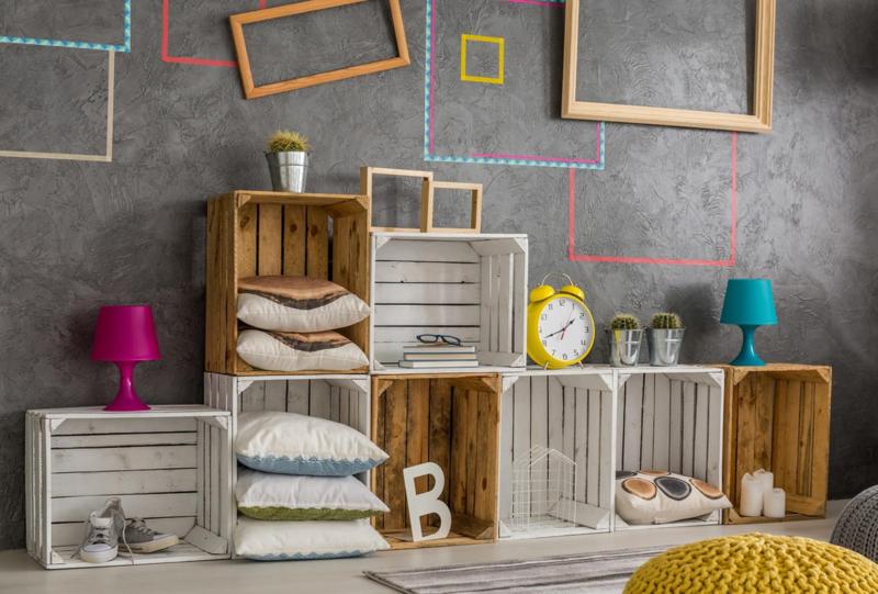 50 идей мебели из деревянных ящиков своими руками