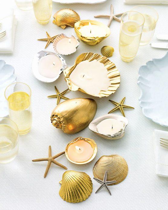 Декорирование стола самодельными свечами