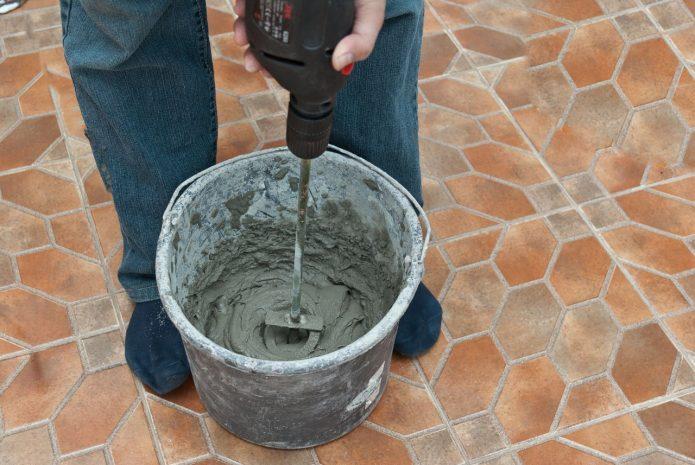 Замешивание бетона