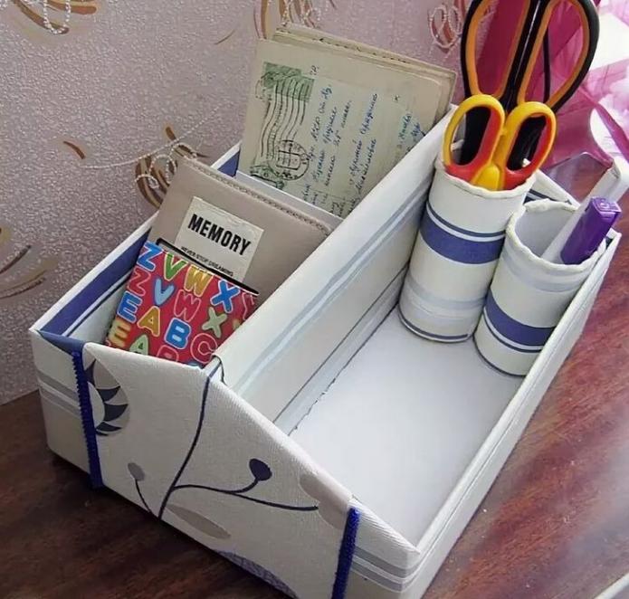 Органайзер для мелочей из обувной коробки
