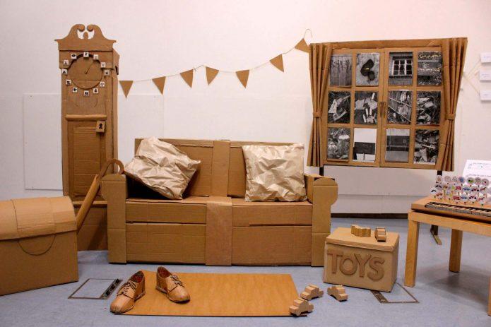 Комплект мебели из коробок