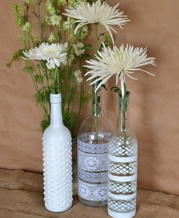 Красивые вазы из бутылок