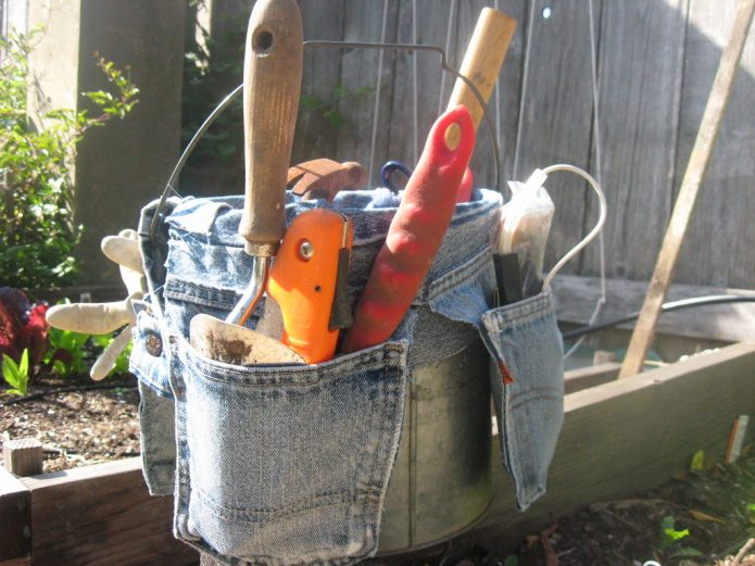 Органайзер для садовых инструментов с удобными карманами