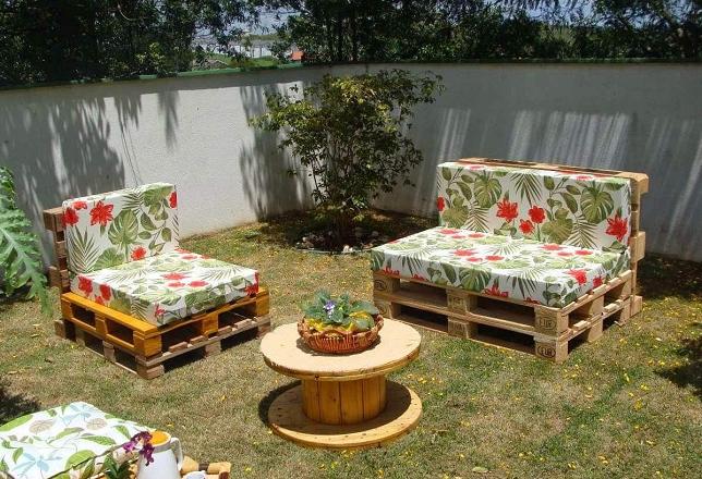 Дачная мебель из поддонов