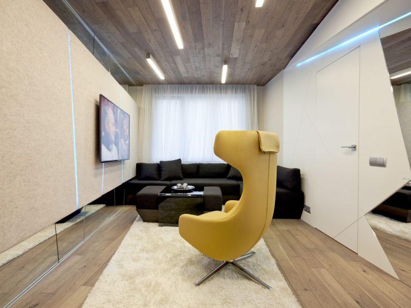 С ног на голову: 20 идей отделки потолка ламинатом