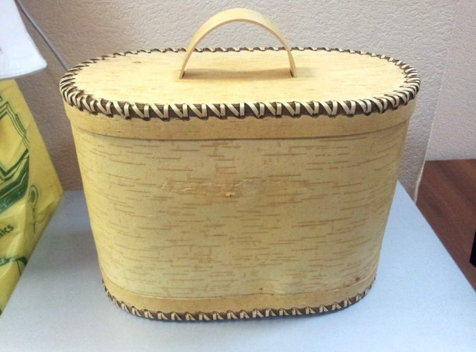 Туесок-хлебница из бересты