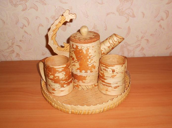 Чайный набор из бересты