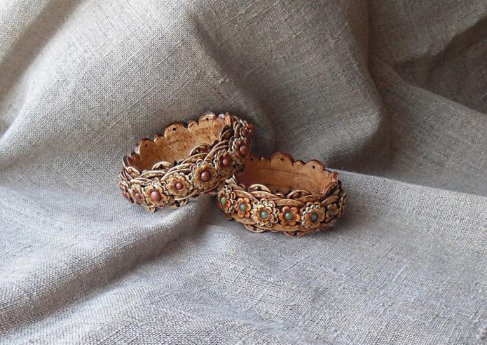 Берестяные браслеты