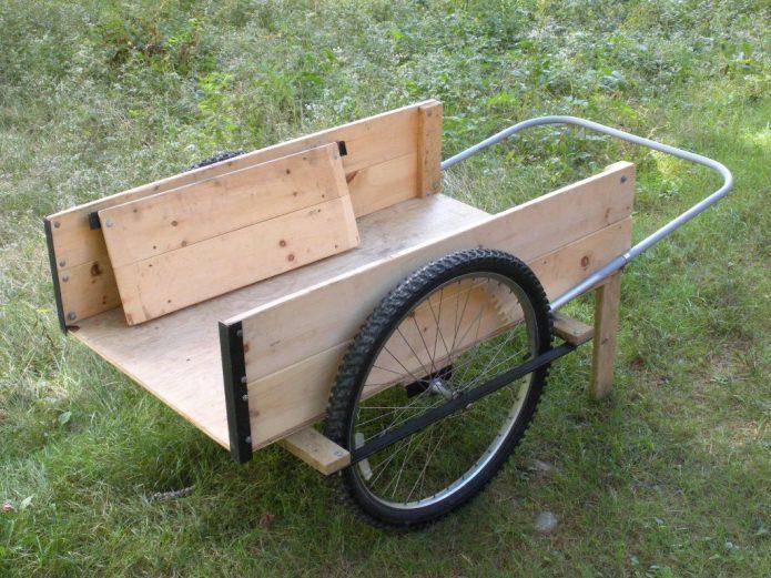 Самодельная тележка с велосипедными колёсами