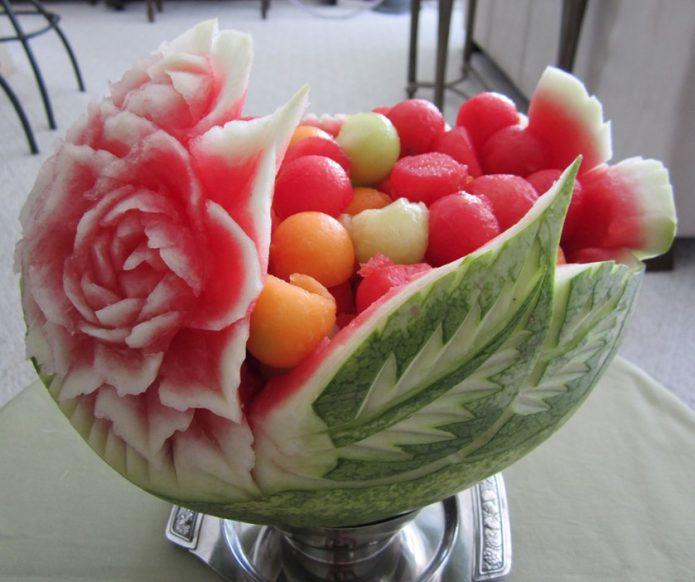 Карвинг из арбуза и дыни